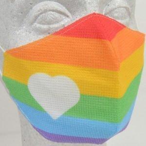 Reusable Anime Face Mask - Rainbow